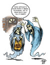 Cartoon: Halloween cartoon 2011 (small) by thopman tagged halloween,ghost,pumpkin,skeletons,poltergeist