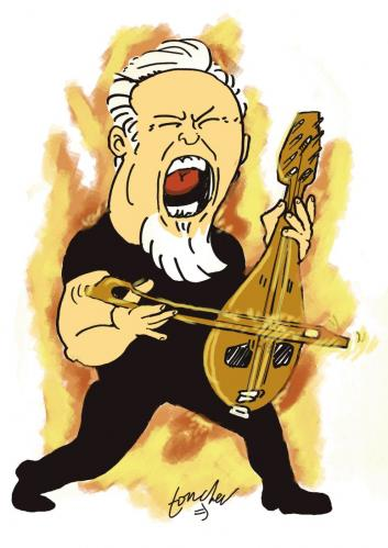 Cartoon: James Hetfield (medium) by Bravemaina tagged james,hetfield,metallica
