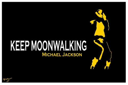 Cartoon: Keep Moonwalking (medium) by Bravemaina tagged michael,jackson,moonwalk