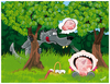 Cartoon: CAPERUCITA ROJA (small) by ELPEYSI tagged camperucita,caperusa,lobo,chuleta,bosque,cuento