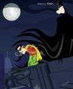 Cartoon: Disculpa Robin (small) by ELPEYSI tagged robin,batman,noche,gargola