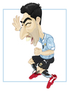 Cartoon: LUIS SUAREZ 4 GOLES (small) by ELPEYSI tagged luis,suarez,goles