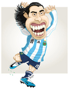 Cartoon: TEVEZ (small) by ELPEYSI tagged carlitos,tevez,elapache,argentina,albiceleste,11
