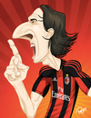 Cartoon: zlatan-ibrahimovic (small) by ELPEYSI tagged zlatan,ibrahimovic,acmilan,11