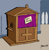 Cartoon: Sex-shop (small) by marcosymolduras tagged religion child abuse pedophilia