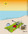 Cartoon: Sunless protection (small) by marcosymolduras tagged sun beach protection