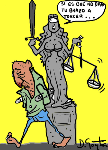 Cartoon: JUSTICIA CIEGA (medium) by David Goytia tagged ley,juicio,desorden