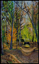 Cartoon: cauce de hojas en Aranjuez (small) by David Goytia tagged oleo,pintura,paisaje,cuadro,aranjuez