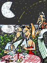 Cartoon: pizzapitch (small) by David Goytia tagged pizza,luna,romantico,noche