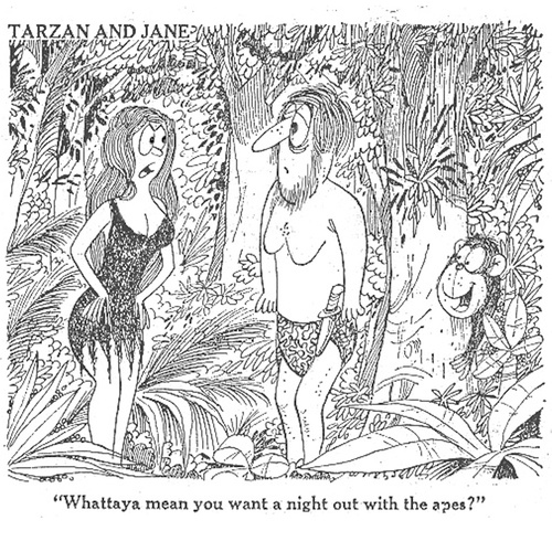Cartoon: Tarzan and Jane (medium) by LAINO tagged tarzan,jane
