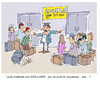 Cartoon: Las Maletas (small) by LAINO tagged maletas