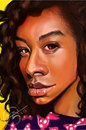 Cartoon: Corinne Bailey Rae (small) by salnavarro tagged caricature,finger,painted,ipod,touch