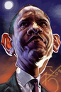 Cartoon: Friend or Foe (small) by salnavarro tagged barack,obama,digital,caricature,fingerpainted