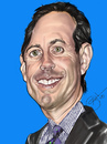 Cartoon: Jerry Seinfeld (small) by salnavarro tagged finger,painted,caricature,jerry,seinfeld