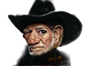 Cartoon: Willie Nelson (small) by salnavarro tagged finger,painted,ipad,caricature,digital