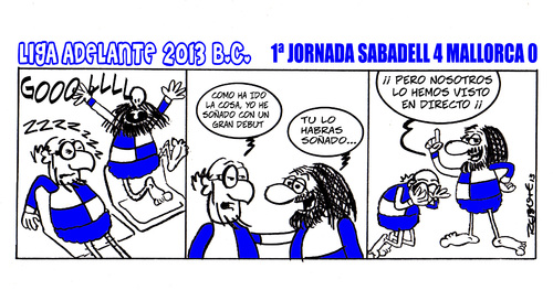 Cartoon: Division Maldita (medium) by rebotemartinez tagged liga,adelante,sabadell