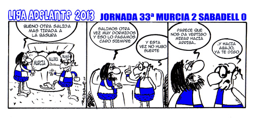 Cartoon: Division Maldita 33 (medium) by rebotemartinez tagged sabadell,adelante,liga