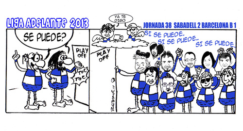 Cartoon: Division Maldita 38 (medium) by rebotemartinez tagged liga,adelante,sabadell