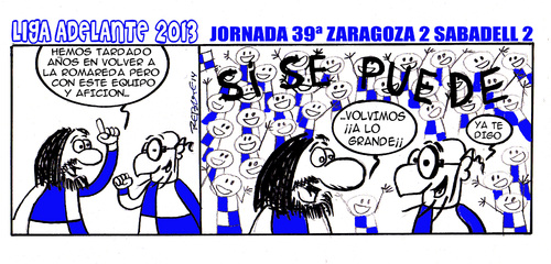 Cartoon: Division Maldita 39 (medium) by rebotemartinez tagged liga,adelante,sabadell