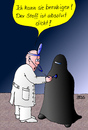Cartoon: Arztbesuch (small) by besscartoon tagged iswlam,religion,arzt,burka,bess,besscartoon
