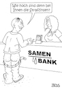 Cartoon: Strafzinsen (small) by besscartoon tagged geld,finanzen,strafzinsen,banken,ezb,dragi,zinsen,sparer,samenbank,bess,besscartoon
