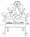 Cartoon: www.ich.com (small) by besscartoon tagged mann,bett,sex,beziehung,internet,bess,besscartoon