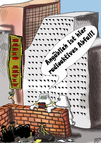 Cartoon: Abfall (medium) by Vlado Mach tagged abfall,radioaktiv