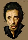 Cartoon: Al Pacino (small) by Vlado Mach tagged al pacino actor movie