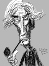 Cartoon: Bertrand Russell (small) by Dunlap-Shohl tagged philosopher,free,thinker,mathematician