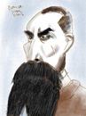 Cartoon: Captain Sir Richard Francis Buro (small) by Dunlap-Shohl tagged burton,caricature
