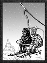Cartoon: Dance of Death 1 (small) by Dunlap-Shohl tagged dance death skiing anxiety