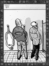 Cartoon: Dance of Death 4 (small) by Dunlap-Shohl tagged dance death urinal anxiety pace