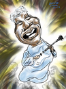 Cartoon: SisterRosetta Tharpe (small) by Dunlap-Shohl tagged gospell,rock,guitar