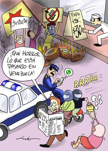 Cartoon: Venezuela (medium) by lucholuna tagged venezuela