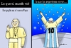 Cartoon: Como ven el Papa en argentina (small) by lucholuna tagged papa,francisco