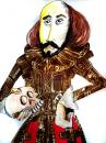 Cartoon: WILLIAM SHAKESPEARE (small) by lucholuna tagged caricature