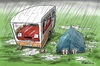 Cartoon: campers (small) by penwill tagged camping,caravan,tent,camp,rain,car,holiday,wet