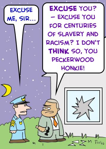 Cartoon: 1peckerwood honkie gates crowley (medium) by rmay tagged peckerwood,honkie,gates,crowley