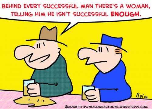 Cartoon: BEHIND EVERY SUCCESSFUL MAN WOMA (medium) by rmay tagged behind,every,successful,man,woman