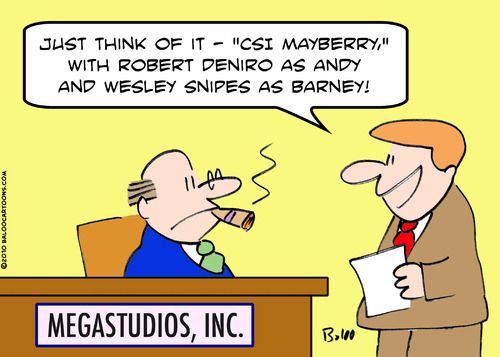 Cartoon: CSI Mayberry (medium) by rmay tagged csi,mayberry