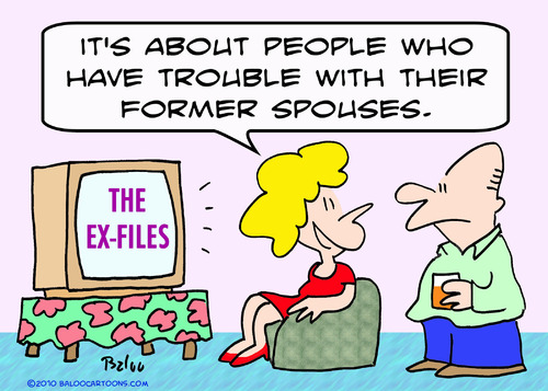 Cartoon: ex files tv former spouses x (medium) by rmay tagged ex,files,tv,former,spouses