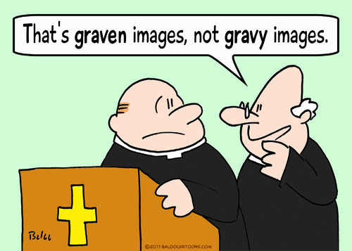 Cartoon: graven gravy images priests (medium) by rmay tagged graven,gravy,images,priests