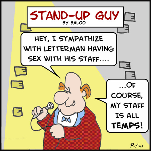 Cartoon: letterman staff temps (medium) by rmay tagged letterman,staff,temps