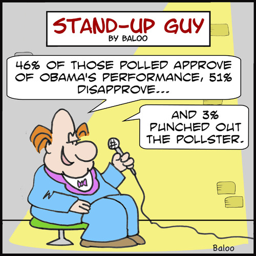 Cartoon: SUGpunched pollster obama (medium) by rmay tagged punched,pollster,obama