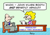 Cartoon: benedict arnold john wilkes boot (small) by rmay tagged benedict,arnold,john,wilkes,booth,genealogy