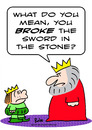Cartoon: broke sword in stone king prince (small) by rmay tagged broke,sword,in,stone,king,prince