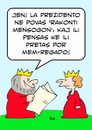 Cartoon: cannot tell lie king  esperanto (small) by rmay tagged cannot,tell,lie,king,esperanto