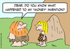 Cartoon: caveman wife money invention (small) by rmay tagged caveman,wife,money,invention