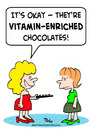 Cartoon: chocolates vitamin enriched (small) by rmay tagged chocolates,vitamin,enriched