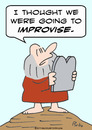 Cartoon: commandments moses improvise (small) by rmay tagged commandments moses improvise
